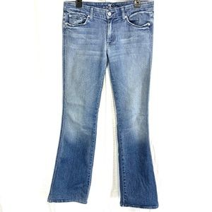 7 FOR ALL MANKIND A Pocket Flare Boot Cut Jeans 31